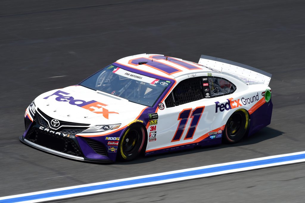CHARLOTTE, NORTH CAROLINA - MAY 23: Denny Hamlin, driver of the #11 FedEx Ground Toyota, practices for the Monster Energy NASCAR Cup Series Coca-Cola 600 at Charlotte Motor Speedway on May 23, 2019 in Charlotte, North Carolina. (Photo by Jared C. Tilton/Getty Images) | Getty Images