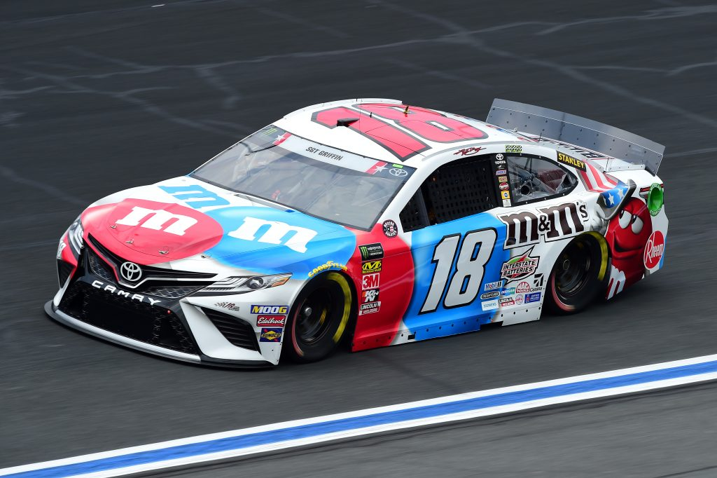 CHARLOTTE, NORTH CAROLINA - MAY 23: Kyle Busch, driver of the #18 M&M's Red White & Blue Toyota, practices for the Monster Energy NASCAR Cup Series Coca-Cola 600 at Charlotte Motor Speedway on May 23, 2019 in Charlotte, North Carolina. (Photo by Jared C. Tilton/Getty Images) | Getty Images