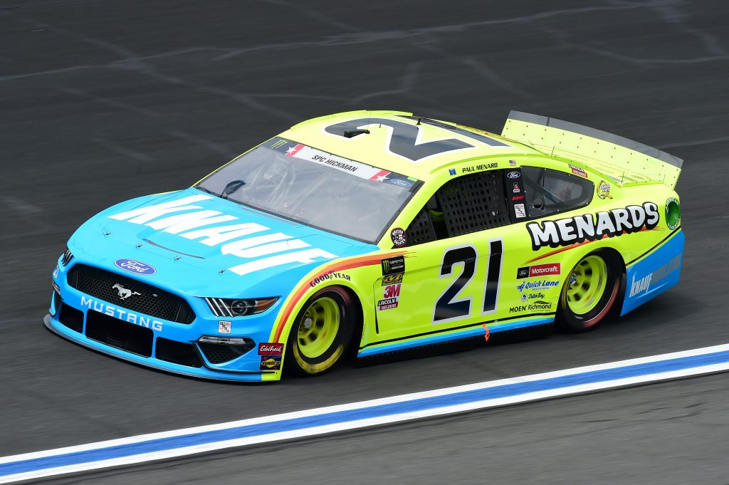 CHARLOTTE, NORTH CAROLINA - MAY 23: Paul Menard, driver of the #21 Menards/Knauf Ford, practices for the Monster Energy NASCAR Cup Series Coca-Cola 600 at Charlotte Motor Speedway on May 23, 2019 in Charlotte, North Carolina. (Photo by Jared C. Tilton/Getty Images) | Getty Images