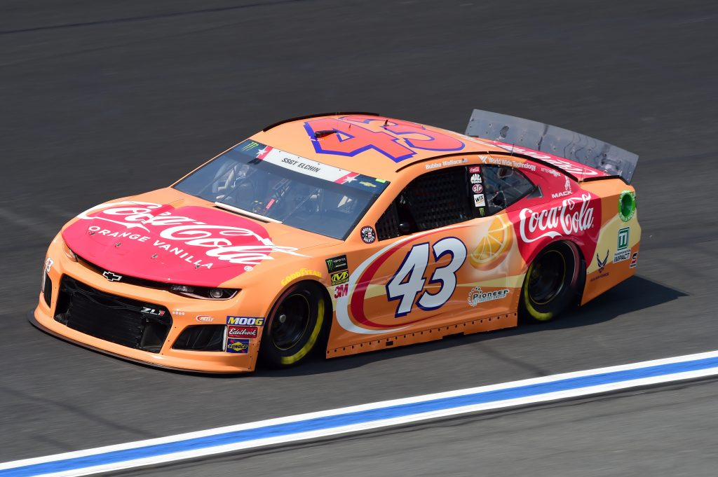 CHARLOTTE, NORTH CAROLINA - MAY 23: Bubba Wallace, driver of the #43 Coca-Cola Orange Vanilla Chevrolet, practices for the Monster Energy NASCAR Cup Series Coca-Cola 600 at Charlotte Motor Speedway on May 23, 2019 in Charlotte, North Carolina. (Photo by Jared C. Tilton/Getty Images) | Getty Images