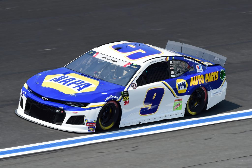 CHARLOTTE, NORTH CAROLINA - MAY 23: Chase Elliott, driver of the #9 NAPA Auto Parts Chevrolet, practices for the Monster Energy NASCAR Cup Series Coca-Cola 600 at Charlotte Motor Speedway on May 23, 2019 in Charlotte, North Carolina. (Photo by Jared C. Tilton/Getty Images) | Getty Images