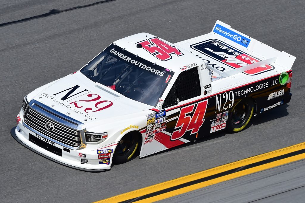 DAYTONA BEACH, FL - FEBRUARY 14: Natalie Decker, driver of the #54 N29 Technologies LLC Toyota, practices for the NASCAR Gander Outdoor Truck Series NextEra Energy 250 at Daytona International Speedway on February 14, 2019 in Daytona Beach, Florida. (Photo by Jared C. Tilton/Getty Images) | Getty Images