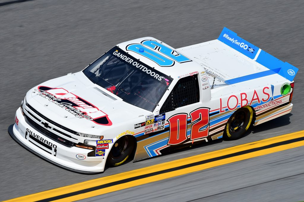 DAYTONA BEACH, FL - FEBRUARY 14:  Tyler Dippel, driver of the #02 Danda Concrete/Lobas Productions Chevrolet, practices for the NASCAR Gander Outdoor Truck Series NextEra Energy 250 at Daytona International Speedway on February 14, 2019 in Daytona Beach, Florida.  (Photo by Jared C. Tilton/Getty Images) | Getty Images
