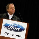 CONCORD, NC - JANUARY 27: Edsel Ford II speaks to the media during the NASCAR Sprint Media Tour hosted by Charlotte Motor Speedway, held at the Roush-Fenway hanger of Concord Regional Airport, on January 27, 2011 in Concord, North Carolina. (Photo by Jason Smith/Getty Images for NASCAR) | Getty Images