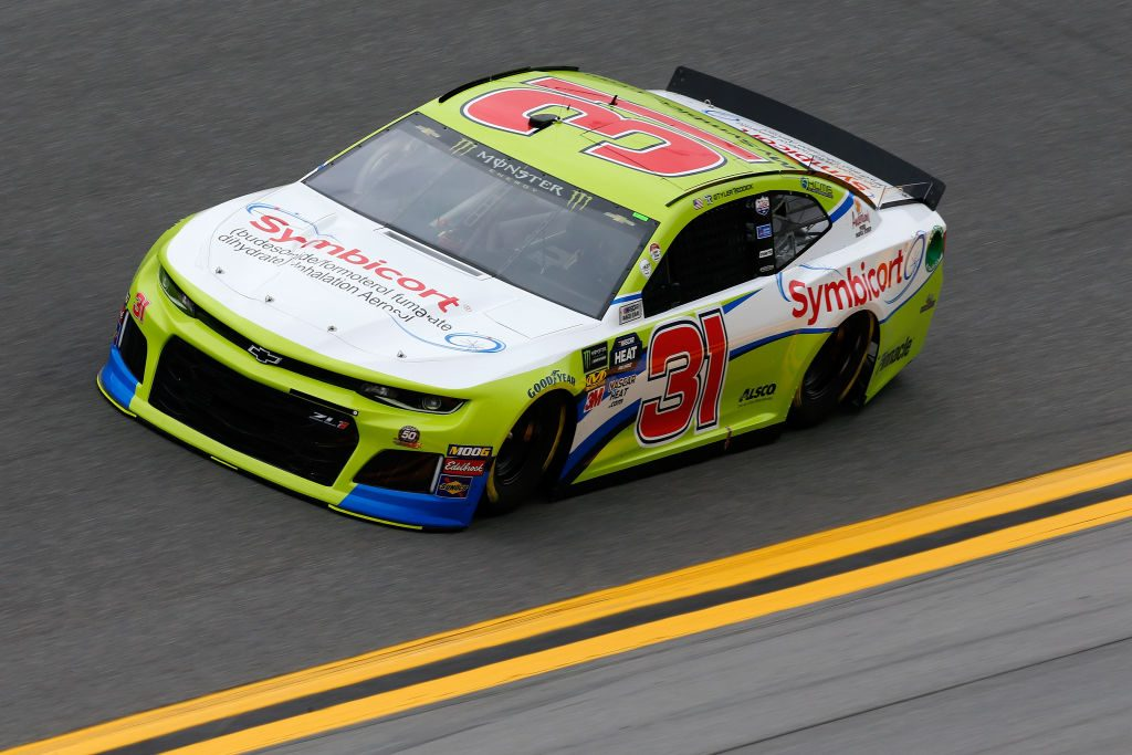 DAYTONA BEACH, FL - FEBRUARY 09: Tyler Reddick, driver of the #31 Symbicort Chevrolet, drives during practice for the Monster Energy NASCAR Cup Series 61st Annual Daytona 500 at Daytona International Speedway on February 9, 2019 in Daytona Beach, Florida. (Photo by Jonathan Ferrey/Getty Images) | Getty Images