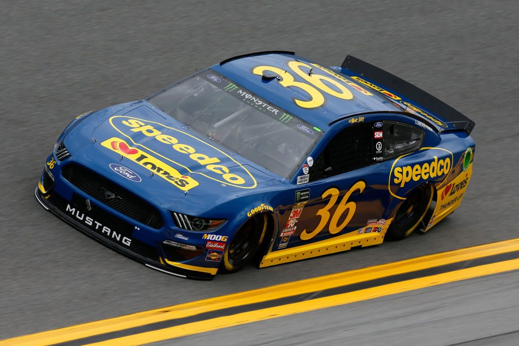 DAYTONA BEACH, FL - FEBRUARY 09: Matt Tifft, driver of the #36 Speedco Ford, drives during practice for the Monster Energy NASCAR Cup Series 61st Annual Daytona 500 at Daytona International Speedway on February 9, 2019 in Daytona Beach, Florida. (Photo by Jonathan Ferrey/Getty Images) | Getty Images