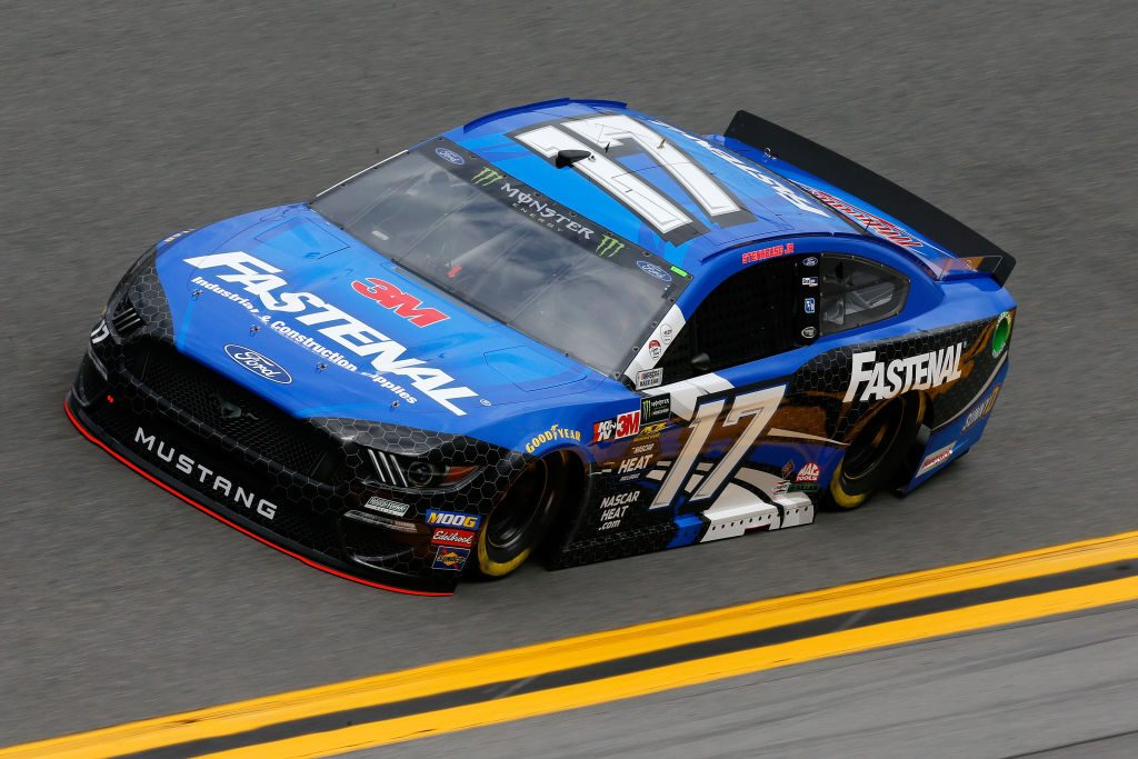 DAYTONA BEACH, FL - FEBRUARY 09: Ricky Stenhouse Jr., driver of the #17 Fastenal Ford, drives during practice for the Monster Energy NASCAR Cup Series 61st Annual Daytona 500 at Daytona International Speedway on February 9, 2019 in Daytona Beach, Florida. (Photo by Jonathan Ferrey/Getty Images) | Getty Images