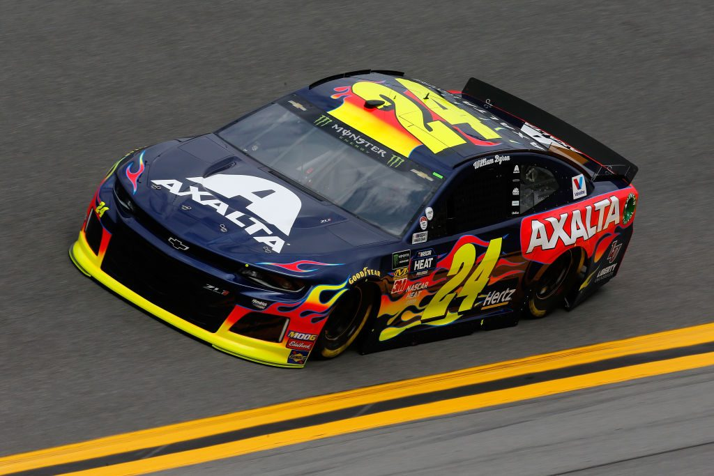 DAYTONA BEACH, FL - FEBRUARY 09: William Byron, driver of the #24 Axalta Chevrolet, drives during practice for the Monster Energy NASCAR Cup Series 61st Annual Daytona 500 at Daytona International Speedway on February 9, 2019 in Daytona Beach, Florida. (Photo by Jonathan Ferrey/Getty Images) | Getty Images