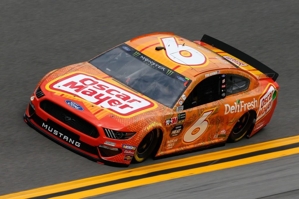 DAYTONA BEACH, FL - FEBRUARY 09: Ryan Newman, driver of the #6 Oscar Mayer Deli Fresh Ford, drives during practice for the Monster Energy NASCAR Cup Series 61st Annual Daytona 500 at Daytona International Speedway on February 9, 2019 in Daytona Beach, Florida. (Photo by Jonathan Ferrey/Getty Images) | Getty Images