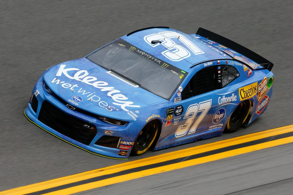 DAYTONA BEACH, FL - FEBRUARY 09: Chris Buescher, driver of the #37 Kleenex Wet Wipes Chevrolet, during practice for the Monster Energy NASCAR Cup Series 61st Annual Daytona 500 at Daytona International Speedway on February 9, 2019 in Daytona Beach, Florida. (Photo by Jonathan Ferrey/Getty Images) | Getty Images