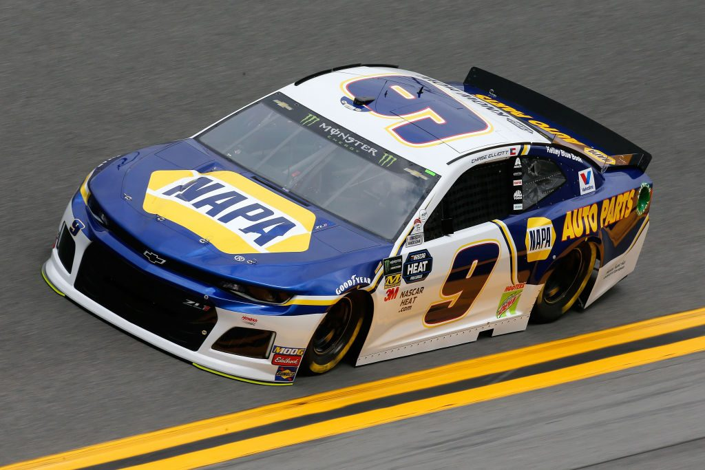 DAYTONA BEACH, FL - FEBRUARY 09: Chase Elliott, driver of the #9 NAPA Auto Parts Chevrolet, during practice for the Monster Energy NASCAR Cup Series 61st Annual Daytona 500 at Daytona International Speedway on February 9, 2019 in Daytona Beach, Florida. (Photo by Jonathan Ferrey/Getty Images) | Getty Images