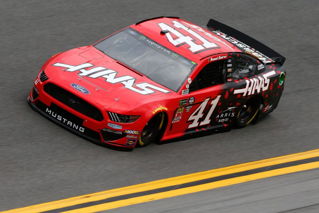 DAYTONA BEACH, FL - FEBRUARY 09: Daniel Suarez, driver of the #41 Haas Automation Ford, during practice for the Monster Energy NASCAR Cup Series 61st Annual Daytona 500 at Daytona International Speedway on February 9, 2019 in Daytona Beach, Florida. (Photo by Jonathan Ferrey/Getty Images) | Getty Images