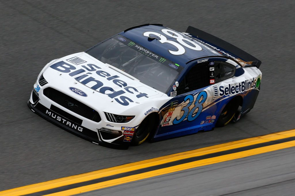 DAYTONA BEACH, FL - FEBRUARY 09: David Ragan, driver of the #38 Select Blinds Ford, during practice for the Monster Energy NASCAR Cup Series 61st Annual Daytona 500 at Daytona International Speedway on February 9, 2019 in Daytona Beach, Florida. (Photo by Jonathan Ferrey/Getty Images) | Getty Images