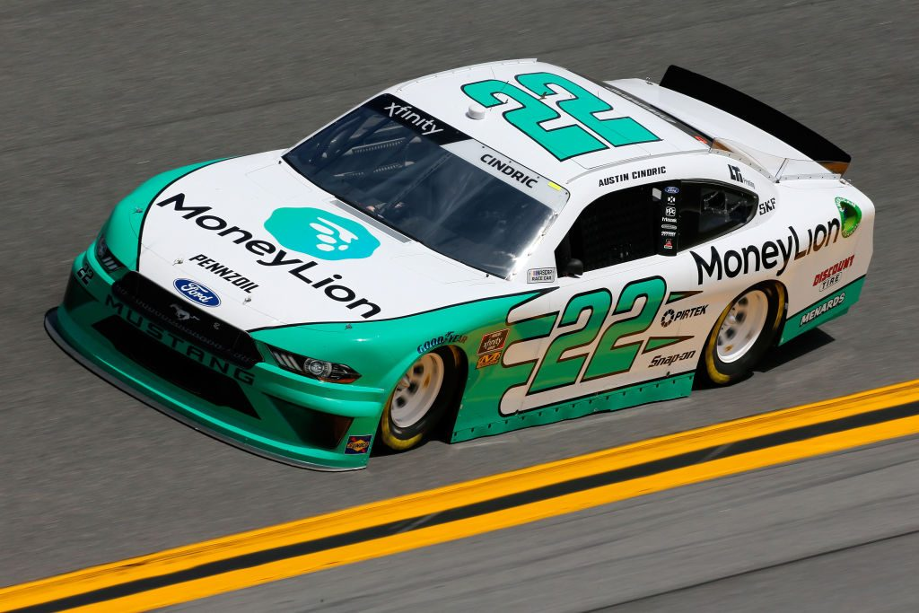 DAYTONA BEACH, FL - FEBRUARY 15: Austin Cindric, driver of the #22 MoneyLion Ford, during practice for the NASCAR Xfinity Series NASCAR Racing Experience 300 at Daytona International Speedway on February 15, 2019 in Daytona Beach, Florida. (Photo by Jonathan Ferrey/Getty Images) | Getty Images