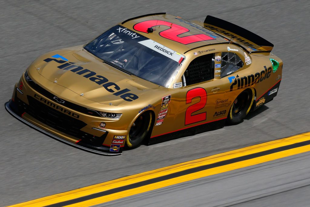 DAYTONA BEACH, FL - FEBRUARY 15: Tyler Reddick, driver of the #2 Pinnacle Financial Partners Chevrolet, during practice for the NASCAR Xfinity Series NASCAR Racing Experience 300 at Daytona International Speedway on February 15, 2019 in Daytona Beach, Florida. (Photo by Jonathan Ferrey/Getty Images) | Getty Images