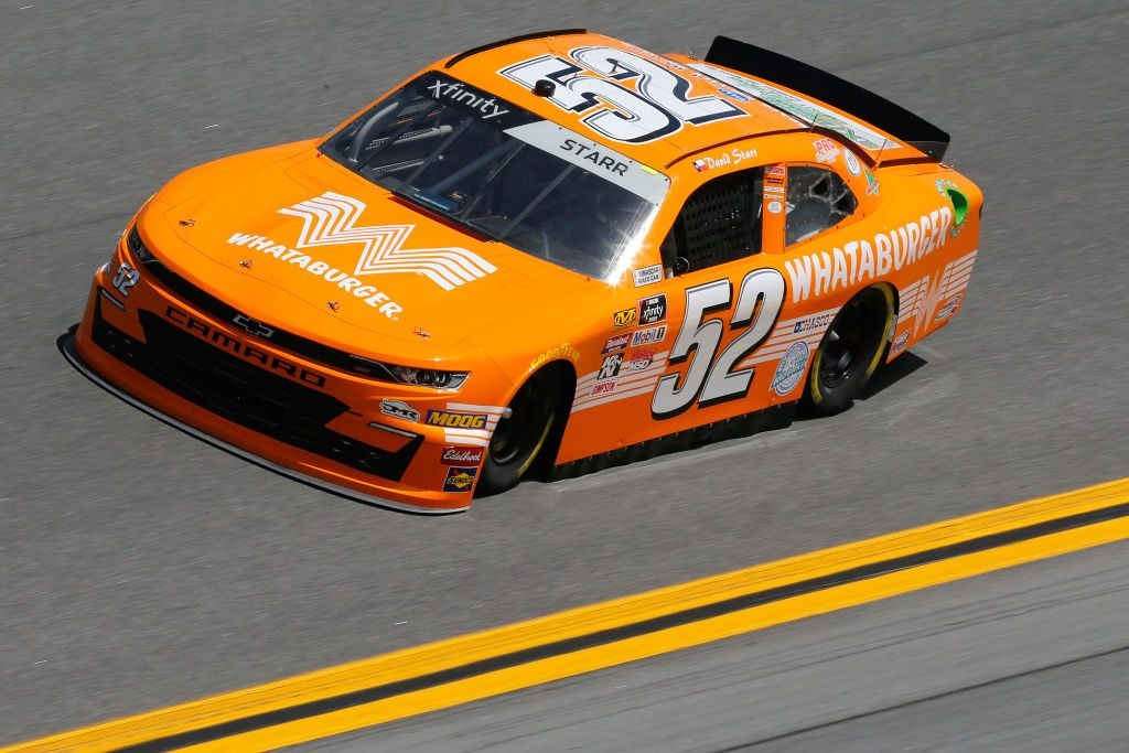 DAYTONA BEACH, FL - FEBRUARY 15: David Starr, driver of the #52 Whataburger Chevrolet, during practice for the NASCAR Xfinity Series NASCAR Racing Experience 300 at Daytona International Speedway on February 15, 2019 in Daytona Beach, Florida. (Photo by Jonathan Ferrey/Getty Images) | Getty Images