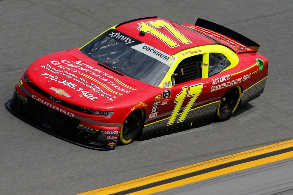 DAYTONA BEACH, FL - FEBRUARY 15: Chris Cockrum, driver of the #17 Advance Comms. Group Chevrolet, during practice for the NASCAR Xfinity Series NASCAR Racing Experience 300 at Daytona International Speedway on February 15, 2019 in Daytona Beach, Florida. (Photo by Jonathan Ferrey/Getty Images) | Getty Images