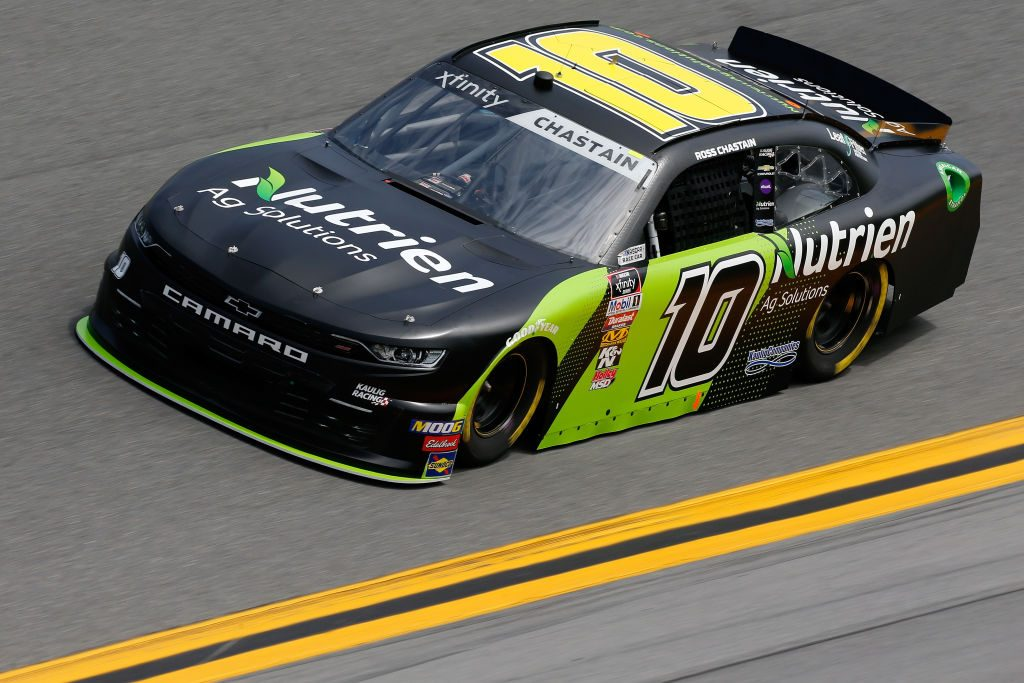DAYTONA BEACH, FL - FEBRUARY 15: Ross Chastain, driver of the #10 Nutrien Ag Solutions Chevrolet, during practice for the NASCAR Xfinity Series NASCAR Racing Experience 300 at Daytona International Speedway on February 15, 2019 in Daytona Beach, Florida. (Photo by Jonathan Ferrey/Getty Images) | Getty Images