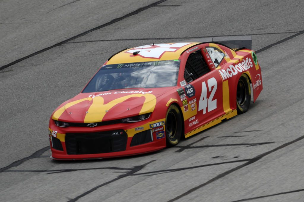 HAMPTON, GA - FEBRUARY 22: Kyle Larson, driver of the #42 McDonald's Chevrolet, drives during practice for the Monster Energy NASCAR Cup Series Folds of Honor Quiktrip 500 at Atlanta Motor Speedway on February 22, 2019 in Hampton, Georgia. (Photo by Chris Graythen/Getty Images) | Getty Images