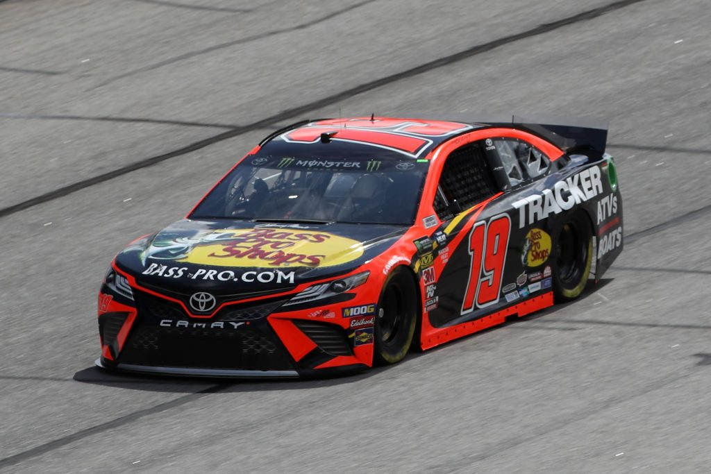 HAMPTON, GA - FEBRUARY 22: Martin Truex Jr., driver of the #19 Bass Pro Shops Toyota, drives during practice for the Monster Energy NASCAR Cup Series Folds of Honor Quiktrip 500 at Atlanta Motor Speedway on February 22, 2019 in Hampton, Georgia. (Photo by Chris Graythen/Getty Images) | Getty Images