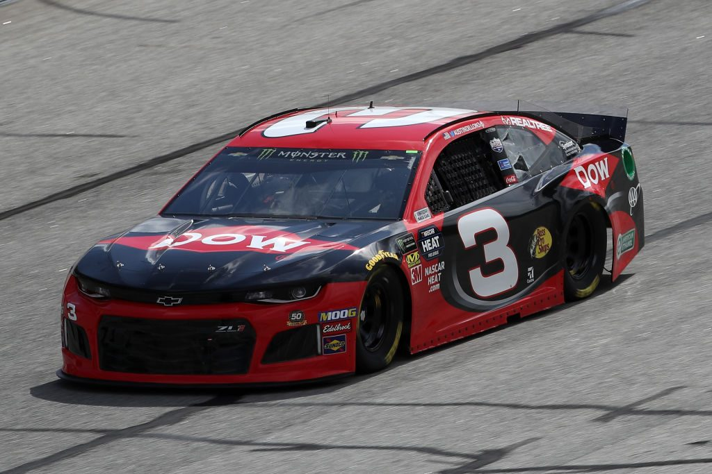 HAMPTON, GA - FEBRUARY 22: Austin Dillon, driver of the #3 Dow Chevrolet, drives during practice for the Monster Energy NASCAR Cup Series Folds of Honor Quiktrip 500 at Atlanta Motor Speedway on February 22, 2019 in Hampton, Georgia. (Photo by Chris Graythen/Getty Images) | Getty Images