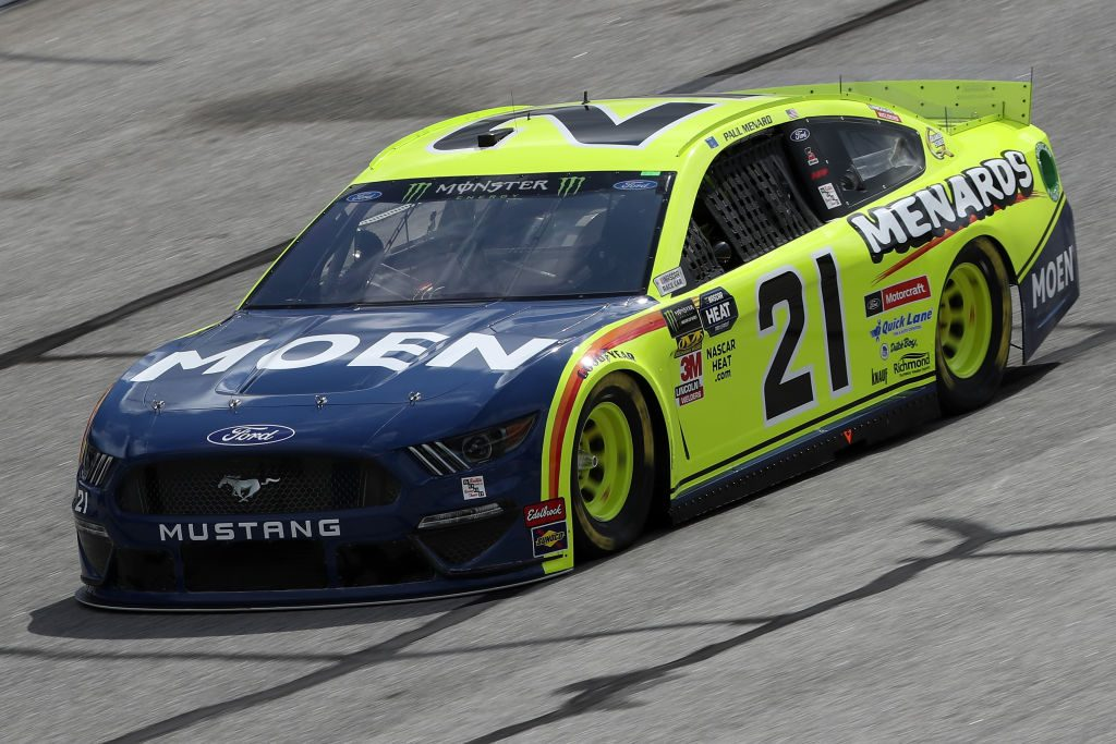 HAMPTON, GA - FEBRUARY 22: Paul Menard, driver of the #21 Menards/Moen Ford, during practice for the Monster Energy NASCAR Cup Series Folds of Honor Quiktrip 500 at Atlanta Motor Speedway on February 22, 2019 in Hampton, Georgia. (Photo by Chris Graythen/Getty Images) | Getty Images