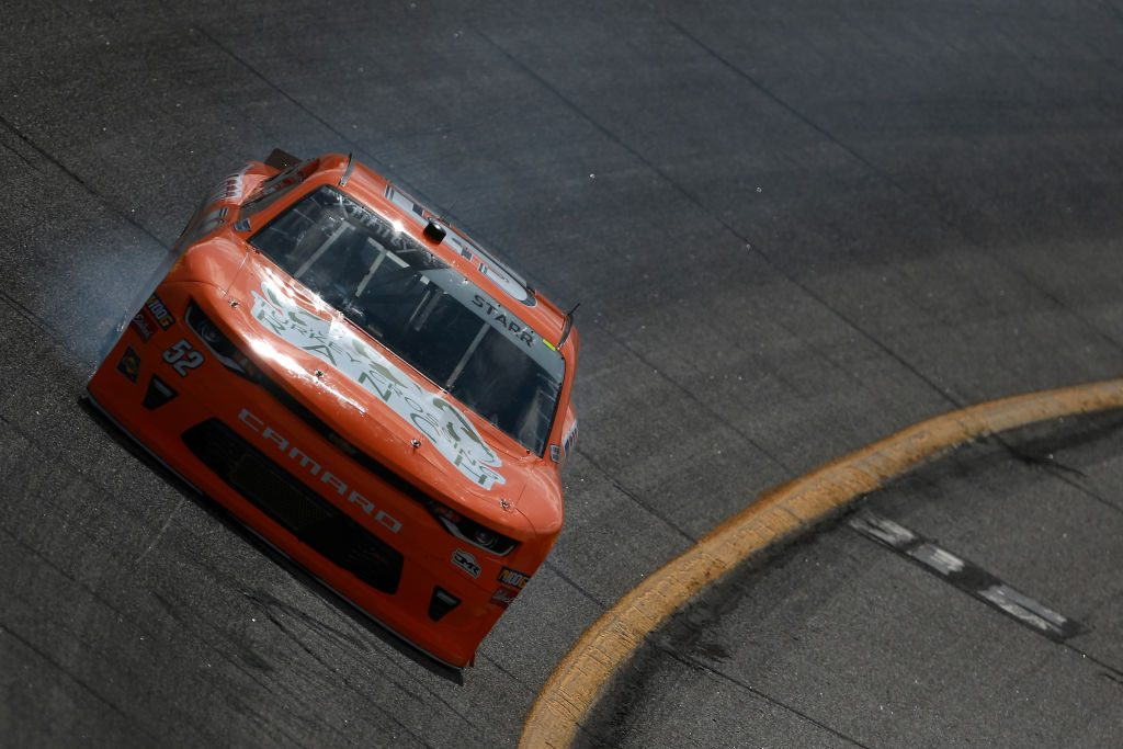 HAMPTON, GA - FEBRUARY 22: David Starr, driver of the #52 Chasco Chevrolet, drives during practice for the NASCAR Xfinity Series RINNAI 250 at Atlanta Motor Speedway on February 22, 2019 in Hampton, Georgia. (Photo by Sean Gardner/Getty Images) | Getty Images