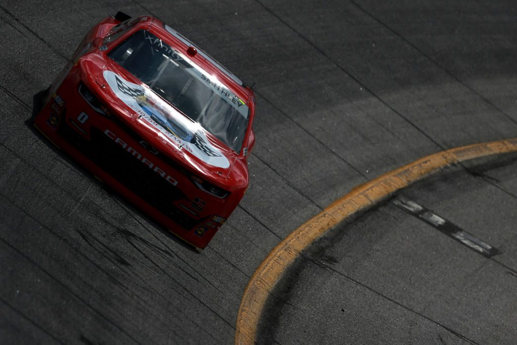 HAMPTON, GA - FEBRUARY 22:  Garrett Smithley, driver of the #0 teamjdmotorsports.com Chevrolet, drives during practice for the NASCAR Xfinity Series RINNAI 250 at Atlanta Motor Speedway on February 22, 2019 in Hampton, Georgia.  (Photo by Sean Gardner/Getty Images)   Getty Images