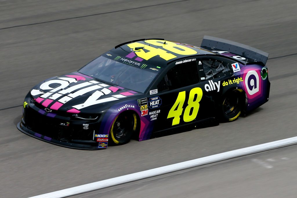LAS VEGAS, NV - MARCH 01: Jimmie Johnson, driver of the #48 Ally Chevrolet, during practice for the Monster Energy NASCAR Cup Series Pennzoil 400 at Las Vegas Motor Speedway on March 1, 2019 in Las Vegas, Nevada. (Photo by Jonathan Ferrey/Getty Images) | Getty Images