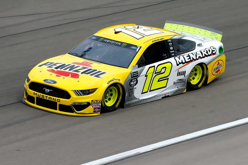 LAS VEGAS, NV - MARCH 01: Ryan Blaney, driver of the #12 Menards/Pennzoil Ford, during practice for the Monster Energy NASCAR Cup Series Pennzoil 400 at Las Vegas Motor Speedway on March 1, 2019 in Las Vegas, Nevada. (Photo by Jonathan Ferrey/Getty Images) | Getty Images