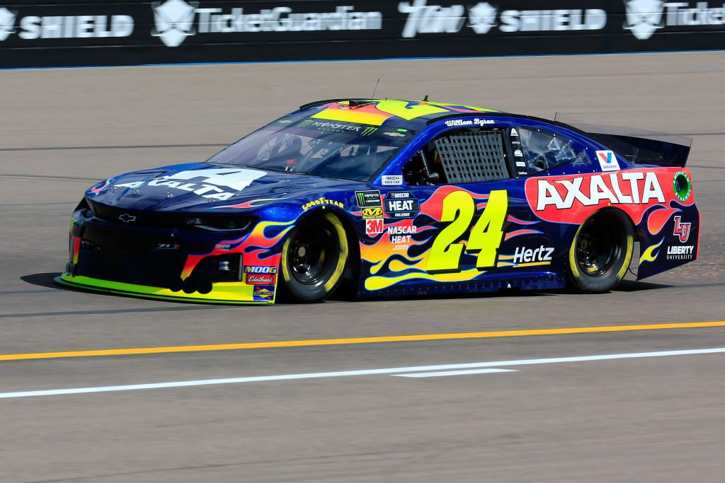 AVONDALE, AZ - MARCH 08: William Byron, driver of the #24 Axalta Chevrolet, practices for the Monster Energy NASCAR Cup Series TicketGuardian 500 at ISM Raceway on March 8, 2019 in Avondale, Arizona. (Photo by Daniel Shirey/Getty Images) | Getty Images