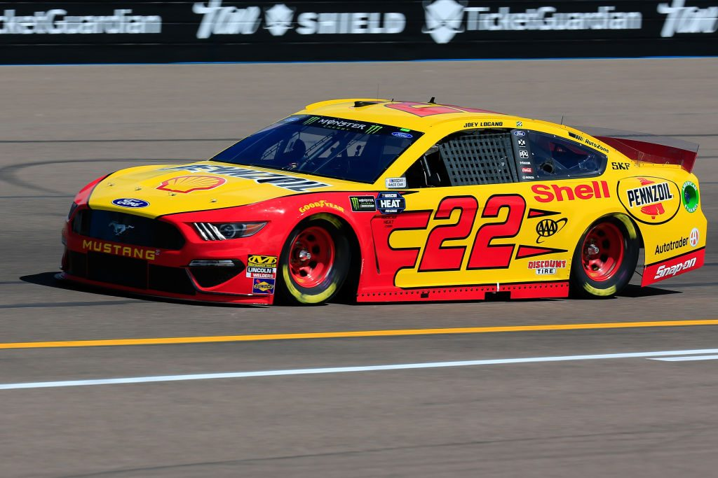 AVONDALE, AZ - MARCH 08: Joey Logano, driver of the #22 Shell Pennzoil Ford, practices for the Monster Energy NASCAR Cup Series TicketGuardian 500 at ISM Raceway on March 8, 2019 in Avondale, Arizona. (Photo by Daniel Shirey/Getty Images) | Getty Images
