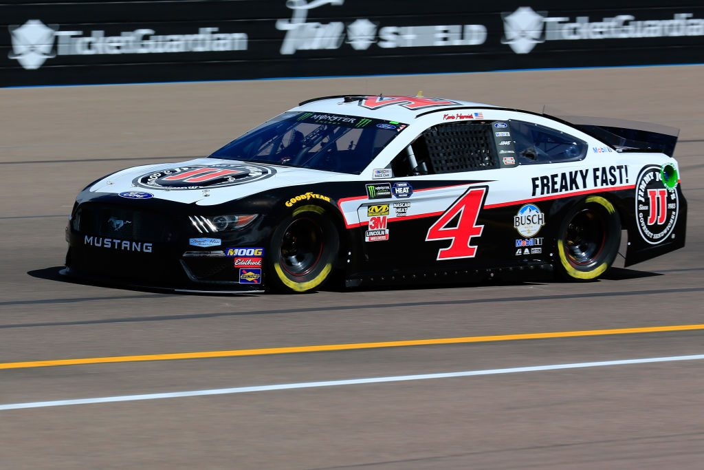 AVONDALE, AZ - MARCH 08: Kevin Harvick, driver of the #4 Jimmy John's Ford, practices for the Monster Energy NASCAR Cup Series TicketGuardian 500 at ISM Raceway on March 8, 2019 in Avondale, Arizona. (Photo by Daniel Shirey/Getty Images) | Getty Images