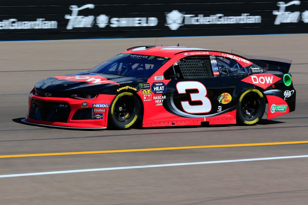 AVONDALE, AZ - MARCH 08: Austin Dillon, driver of the #3 Dow Chevrolet, practices for the Monster Energy NASCAR Cup Series TicketGuardian 500 at ISM Raceway on March 8, 2019 in Avondale, Arizona. (Photo by Daniel Shirey/Getty Images) | Getty Images