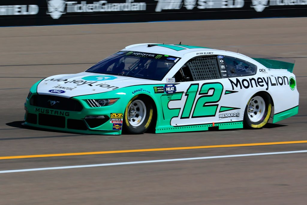 AVONDALE, AZ - MARCH 08: Ryan Blaney, driver of the #12 MoneyLion Ford, practices for the Monster Energy NASCAR Cup Series TicketGuardian 500 at ISM Raceway on March 8, 2019 in Avondale, Arizona. (Photo by Daniel Shirey/Getty Images) | Getty Images