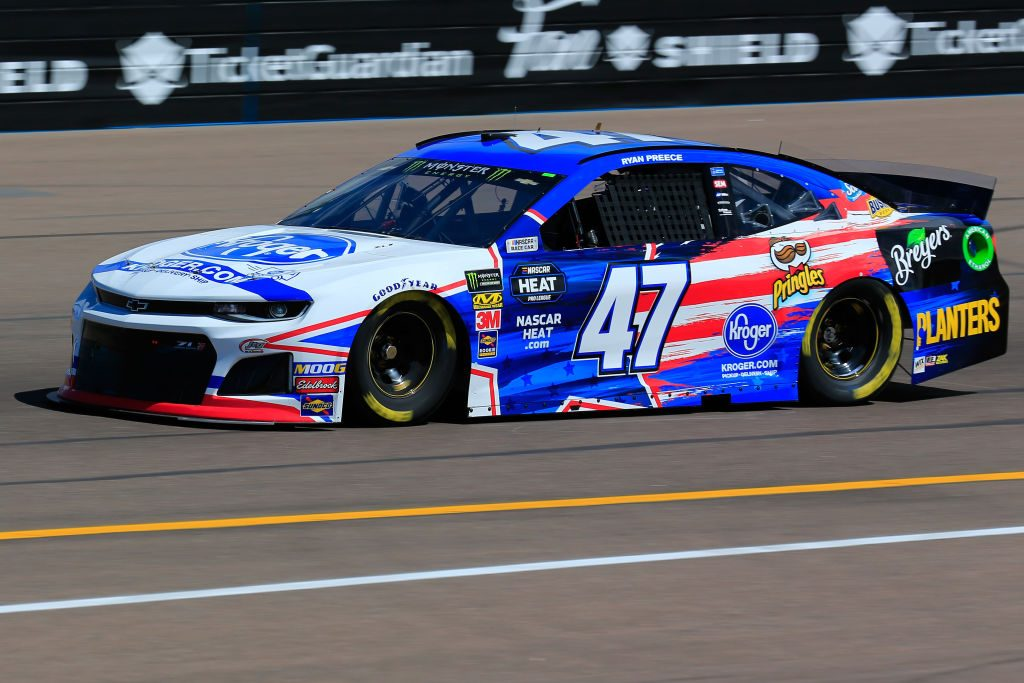 AVONDALE, AZ - MARCH 08: Ryan Preece, driver of the #47 Kroger Chevrolet, practices for the Monster Energy NASCAR Cup Series TicketGuardian 500 at ISM Raceway on March 8, 2019 in Avondale, Arizona. (Photo by Daniel Shirey/Getty Images) | Getty Images