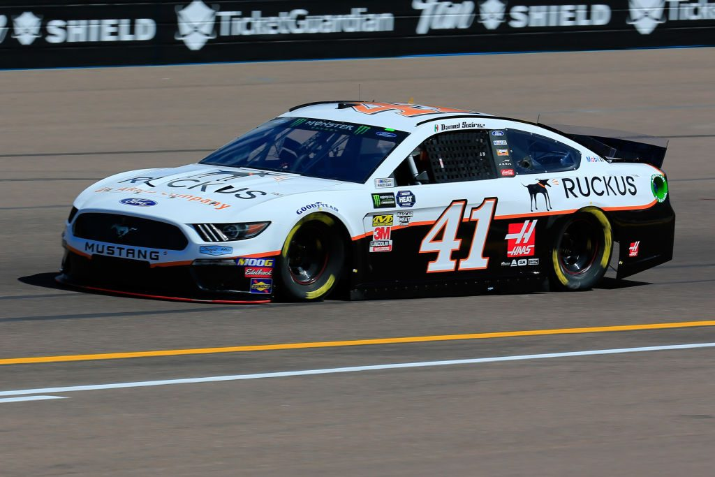 AVONDALE, AZ - MARCH 08: Daniel Suarez, driver of the #41 Ruckus Ford, practices for the Monster Energy NASCAR Cup Series TicketGuardian 500 at ISM Raceway on March 8, 2019 in Avondale, Arizona. (Photo by Daniel Shirey/Getty Images) | Getty Images