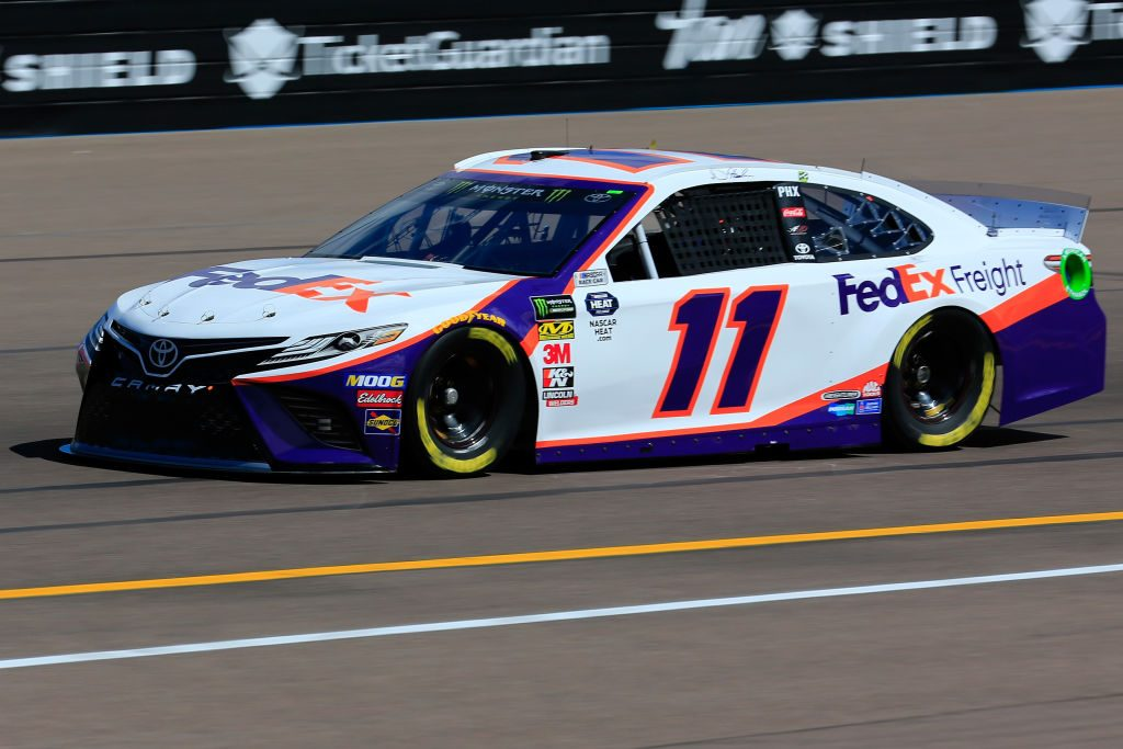 AVONDALE, AZ - MARCH 08: Denny Hamlin, driver of the #11 FedEx Freight Toyota, practices for the Monster Energy NASCAR Cup Series TicketGuardian 500 at ISM Raceway on March 8, 2019 in Avondale, Arizona. (Photo by Daniel Shirey/Getty Images) | Getty Images