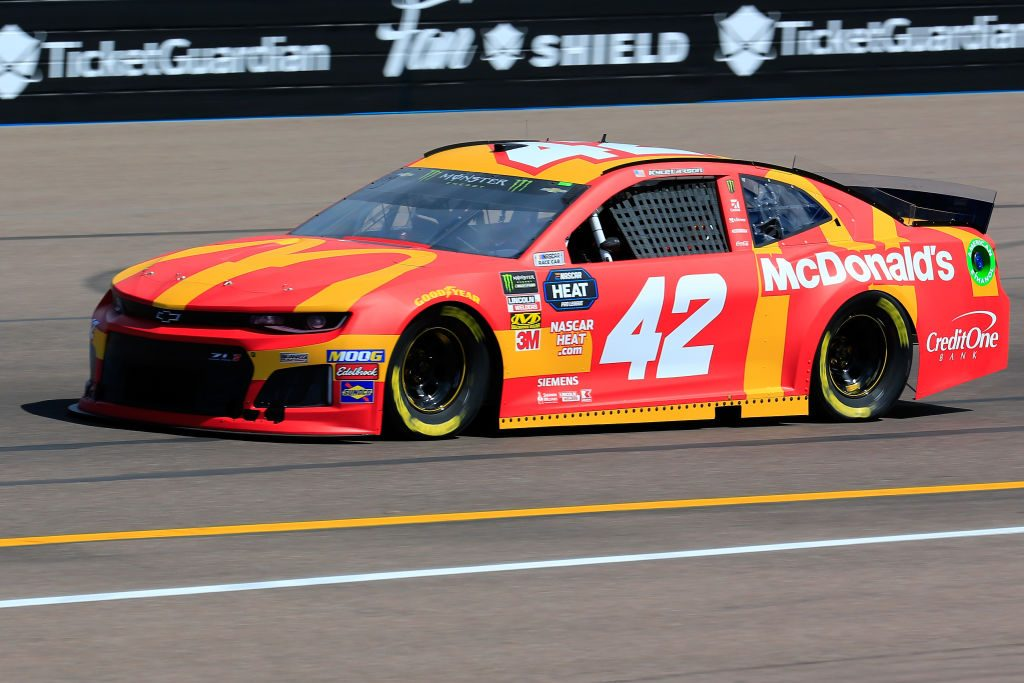 AVONDALE, AZ - MARCH 08: Kyle Larson, driver of the #42 McDonald's Chevrolet, practices for the Monster Energy NASCAR Cup Series TicketGuardian 500 at ISM Raceway on March 8, 2019 in Avondale, Arizona. (Photo by Daniel Shirey/Getty Images) | Getty Images