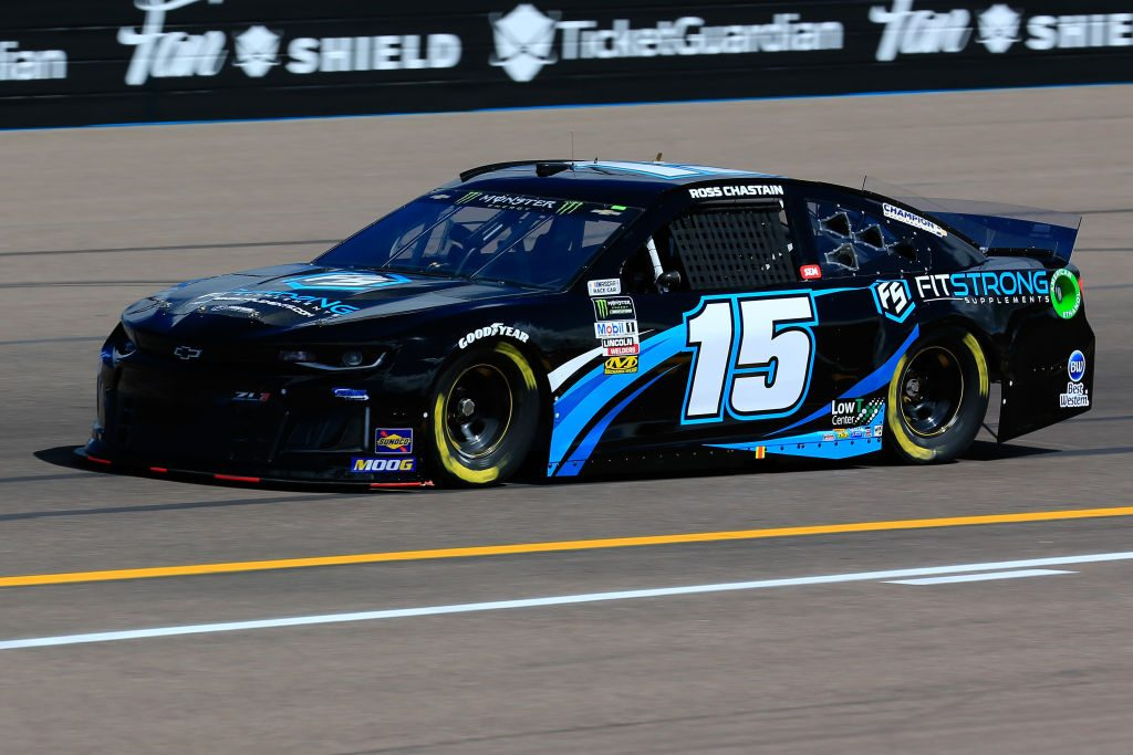 AVONDALE, AZ - MARCH 08: Ross Chastain, driver of the #15 FitStrong Chevrolet, practices for the Monster Energy NASCAR Cup Series TicketGuardian 500 at ISM Raceway on March 8, 2019 in Avondale, Arizona. (Photo by Daniel Shirey/Getty Images) | Getty Images