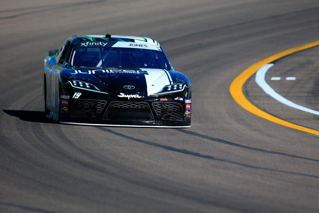 AVONDALE, AZ - MARCH 08: Brandon Jones, driver of the #19 Juniper Toyota, practices for the NASCAR XFINITY Series iK9 Service Dog 200 at ISM Raceway on March 8, 2019 in Avondale, Arizona.  (Photo by Daniel Shirey/Getty Images) | Getty Images