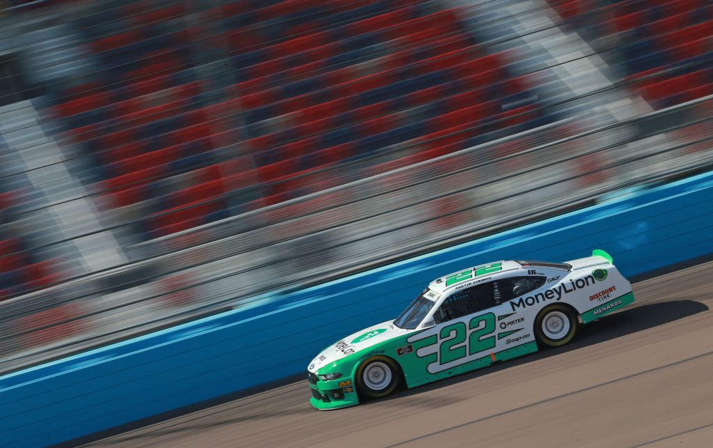 AVONDALE, AZ - MARCH 09: Austin Cindric, driver of the #22 MoneyLion Ford, drives during qualifying for the NASCAR XFINITY Series iK9 Service Dog 200 at ISM Raceway on March 9, 2019 in Avondale, Arizona. (Photo by Matt Sullivan/Getty Images) | Getty Images