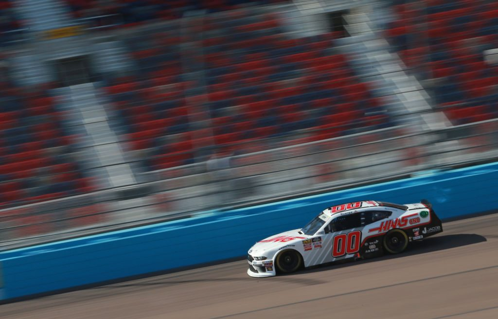 AVONDALE, AZ - MARCH 09: Cole Custer, driver of the #00 Haas Automation Ford, drives during qualifying for the NASCAR XFINITY Series iK9 Service Dog 200 at ISM Raceway on March 9, 2019 in Avondale, Arizona. (Photo by Matt Sullivan/Getty Images)   Getty Images