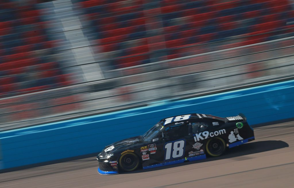 AVONDALE, AZ - MARCH 09: Kyle Busch, driver of the #18 Extreme Concepts/iK9 Toyota, drives during qualifying for the NASCAR XFINITY Series iK9 Service Dog 200 at ISM Raceway on March 9, 2019 in Avondale, Arizona. (Photo by Matt Sullivan/Getty Images) | Getty Images