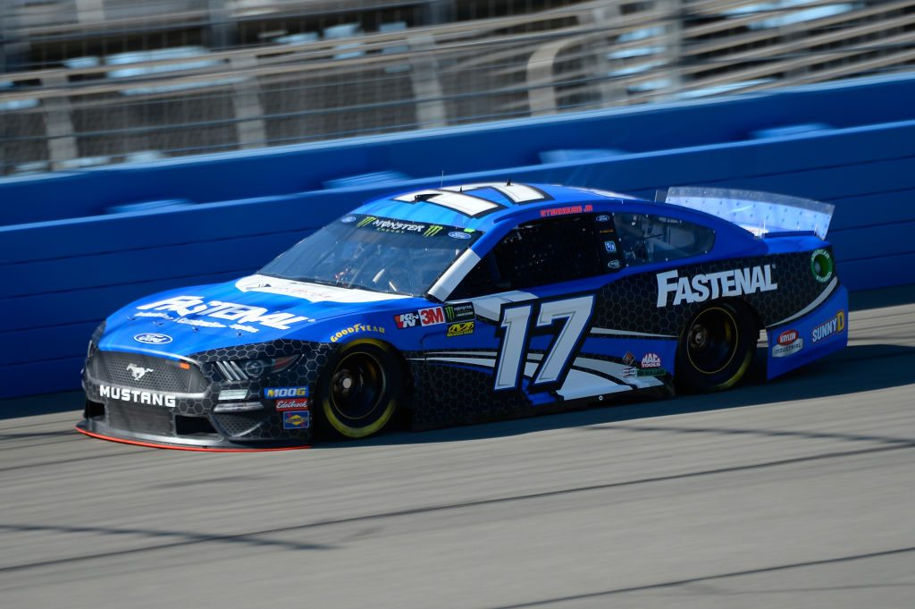 FONTANA, CA - MARCH 15: Ricky Stenhouse Jr, driver of the #17 Fastenal Ford, practices for the Monster Energy NASCAR Cup Series Auto Club 400 at Auto Club Speedway on March 15, 2019 in Fontana, California. (Photo by Robert Laberge/Getty Images) | Getty Images