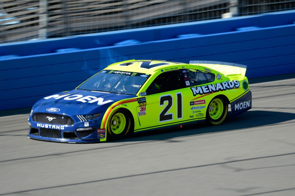 FONTANA, CA - MARCH 15: Paul Menard, driver of the #21 Menards/MOEN Ford, practices for the Monster Energy NASCAR Cup Series Auto Club 400 at Auto Club Speedway on March 15, 2019 in Fontana, California. (Photo by Robert Laberge/Getty Images) | Getty Images