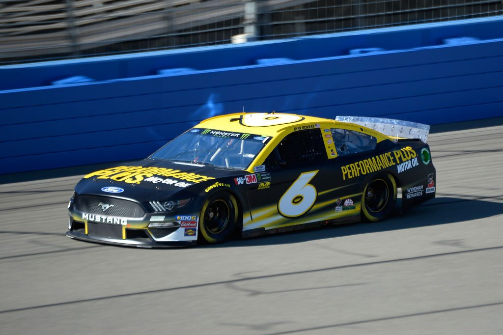 FONTANA, CA - MARCH 15: Ryan Newman, driver of the #6 Performance Plus Motor Oil Ford, practices for the Monster Energy NASCAR Cup Series Auto Club 400 at Auto Club Speedway on March 15, 2019 in Fontana, California. (Photo by Robert Laberge/Getty Images) | Getty Images