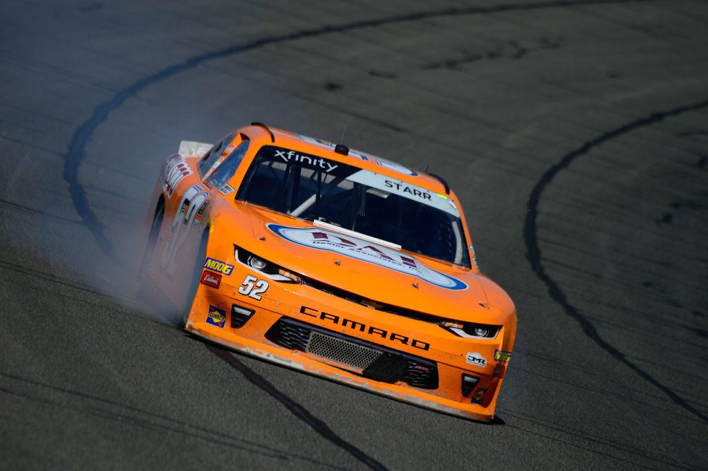 FONTANA, CA - MARCH 15: David Starr, driver of the #52 Chasco Chevrolet, during practice for the NASCAR Xfinity Series Production Alliance Group 300 at Auto Club Speedway on March 15, 2019 in Fontana, California. (Photo by Robert Laberge/Getty Images) | Getty Images