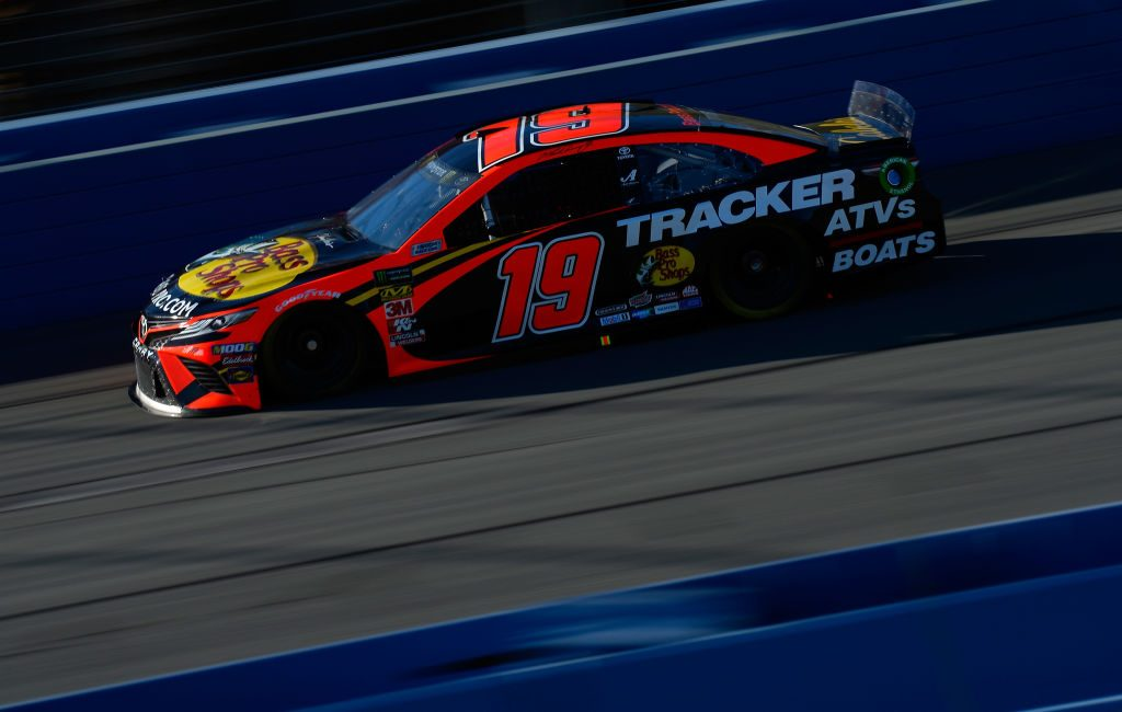 FONTANA, CA - MARCH 16: Martin Truex Jr, driver of the #19 Bass Pro Shops Toyota, during practice for the Monster Energy NASCAR Cup Series Auto Club 400 at Auto Club Speedway on March 16, 2019 in Fontana, California. (Photo by Robert Laberge/Getty Images) | Getty Images