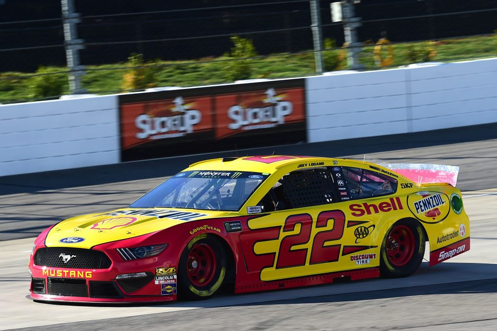 MARTINSVILLE, VA - MARCH 23: Joey Logano, driver of the #22 Shell Pennzoil Ford, drives during practice for the Monster Energy NASCAR Cup Series STP 500 at Martinsville Speedway on March 23, 2019 in Martinsville, Virginia. (Photo by Jared C. Tilton/Getty Images) | Getty Images